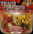 Transformers 2 Revenge of the Fallen Robot Heroes Mudflap vs. Rampage
