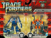 Transformers Revenge of the Fallen (Movie 2) Road Rival Showdown (Beachcomber vs Deadlift - Walmart exclusive)