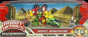 Transformers 2 Revenge of the Fallen Desert Devastation - Autobot Skids, Constructicon Devastator, Mudflap, Captain William Lennox