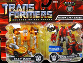 Transformers 2 Revenge of the Fallen Windy City Chase (Slap Dash vs Trenchmouth - Walmart exclusive)