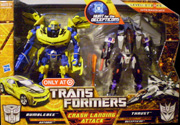 Transformers Hunt for the Decepticons Crash Landing Attack: Bumblebee vs. Thrust