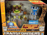 Transformers Hunt for the Decepticons Desert Ruins Brawl: Brawl vs Jolt (Walmart Excl 2-pack)