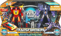 Reveal The Shield Battle In Space Rodimus & Cyclonus