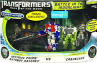 Transformers Cyberverse Battle in the Moonlight - Optimus Prime & Ratchet vs Crankcase
