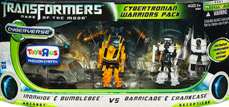 Transformers Cyberverse Cybertronian Warriors Pack - Ironhide & Bumblebee vs Barricade & Crankcase (Toys R Us exclusive)