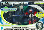 Transformers Cyberverse Optimus Prime w/ Armored Weapon Platform