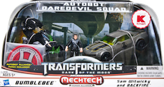 Movie DOTM Autobot Daredevil Squad (Bumblebee with Sam Witwicky & Backfire)