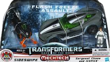 Transformers 3 Dark of the Moon Flash Freeze Assault Set (Sideswipe with Sergeant Chaos & Icepick)