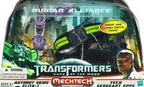 Transformers 3 Dark of the Moon Autobot Skids w/ Elita-1 & Sergeant Epps (Human Alliance)
