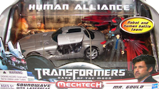 Transformers 3 Dark of the Moon Soundwave with Laserbeak & Mr. Gould (Human Alliance)