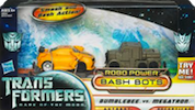 Transformers 3 Dark of the Moon Bumblebee vs Megatron (Robo Power Bash Bots)