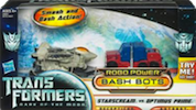 Transformers 3 Dark of the Moon Starscream vs Optimus Prime (Robo Power Bash Bots)