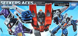 Takara - United UN-exclusive Seekers: Aces Skywarp, Thundercracker and Starscream (China Market)