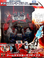 Takara - TF Prime (Arms Micron) AM-21 Optimus Prime (Weaponizer) with Matrix Saber