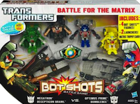 Transformers Bot Shots Battle for the Matrix: Megatron, Decepticon Brawl, Optimus Prime, Bumblebee