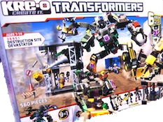 Kre-O Destruction Site Devastator (Scrapper, Drillbit, Scavenger, Hightower)