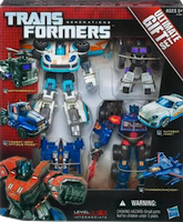 Transformers Generations Ultimate Gift Set: Combat Hero Optimus Prime, Autobot Jazz, Motorbreath, Thundercracker