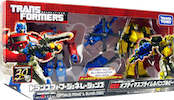 Takara - Generations TG-24 Optimus Prime and Bumblebee w/ Blazemaster and Roller