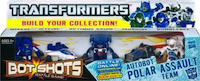 Bot Shots Autobot Polar Assault Team: Optimus Prime, Bumblebee, Mirage, Ironhide, Jetfire