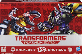 Transformers Platinum Edition Grimlock vs Bruticus (Onslaught, Blast Off, Vortex, Brawl, Swindle)