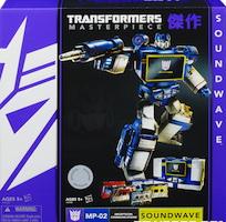 Masterpiece Masterpiece Soundwave, w/ Rumble, Laserbeak, Frenzy, Ravage, Buzzsaw