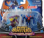 Transformers Prime Predacons Rising: Legion 2-Pack, Smokescreen, Cincersaur