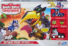 Angry Birds Transformers Jenga Optimus Prime Attack Game, w/ Galvatron Pig