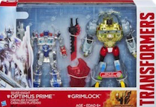 Movie AOE Silver Knight Optimus Prime and Grimlock