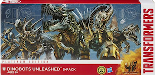 Transformers Platinum Edition Dinobots Unleashed 5-Pack (Slog, Grimlock, Scorn, Slug, Strafe)