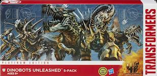 Platinum Edition Dinobots Unleashed 5-Pack (Slog, Grimlock, Scorn, Slug, Strafe)