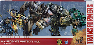 Transformers Platinum Edition Autobots United - Optimus Prime, Hound, Bumblebee, Crosshairs, Drift)