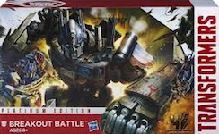"Transformers Platinum Edition Breakout Battle (""Farmageddon"") - Optimus Prime, Crankcase, Rollbar"