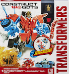 Transformers Construct-Bots Drift with Roughneck - Construct-Bots Dinobot Warriors