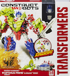 Transformers Construct-Bots Optimus Prime with Gnaw - Construct-Bots Dinobot Warriors