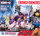 Transformers Kre-O Dinobot Charge (Kre-O with Drift and Slug)