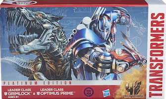 Transformers Platinum Edition Generations Leader 2-pack - Grimlock and Optimus Prime