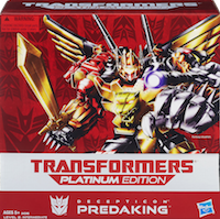 Platinum Edition Predaking (Platinum Giftset, with Predacon Divebomb, Predacon Headstrong, Predacon Rampage, Predacon Razorclaw, and Predacon Torox)