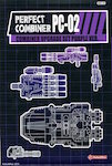 3rd Party PC-02 Perfect Combiner - Upgrade Set for Stunticons / Menasor