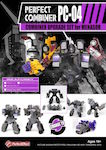 3rd Party PC-04 Perfect Combiner Upgrade Set for Stunticons / Menasor