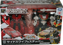 Takara - Adventure TAVVS-04 Sideswipe vs Stepper