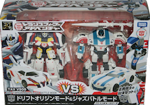 Takara - Transformers Adventure TAVVS05 Drift Origin Mode and Jazz Battle Mode