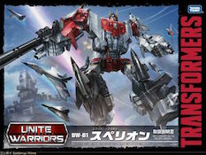 Takara - Unite Warriors UW-01 Autobot Aerialbots Combiners Superion (Air Raid, Silverbolt, Slingshot, Skydive, Fireflight)