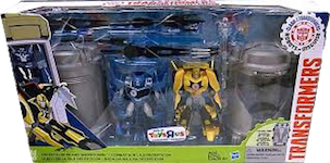 Robots In Disguise / RID (2015-) Decepticon Island Showdown - Bumblebee & Steeljaw w/ Stasis Pod