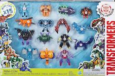 Transformers Robots In Disguise (2015-) Mini-Con Mega-Pack - Windstrike, Undertone, Sandsting, Beastbox, Tricerashot, Decepticon Anvil, Ratbat, Velocirazor, Lord Doomitron, Decepticon Forth, Swelter, Sawback, Bashbreaker, Decepticon Hammer & Divebomb