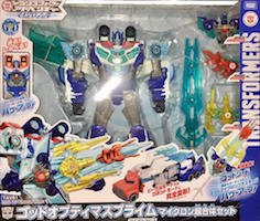 Takara - Transformers Adventure TAV61 God Optimus Prime Micron Set