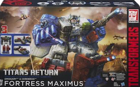 Transformers Generations Fortress Maximus with Emissary and Cerebros