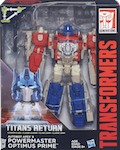 Transformers Generations Powermaster Optimus Prime w/ Autobot Apex Titanmaster