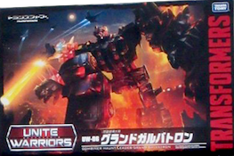 Unite Warriors (Takara) UW-06 Grand Galvatron (Tactician Cyclonus, Ghost Starscream, Curse Armada Thrust, Zombie War Breakdown, Wandering Roller)