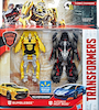 Transformers 5 The Last Knight Bumblebee & Autobot Hot Rod 1-Step Turbo Changer 2-Pack