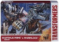 Transformers Platinum Edition Voyager Optimus Prime & Grimlock Platinum Edition - Age of Extinction
